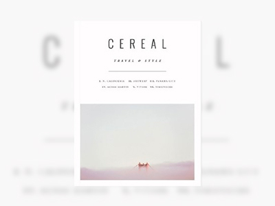 CEREAL 매거진 표지